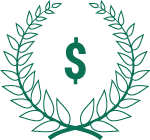 Green wreath with money icon (Links to Elite Checking.)