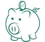 Green piggy bank (Links to Personal Automatic Savings)