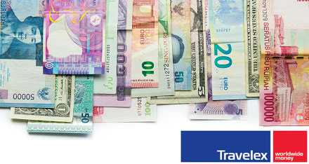 foreign currency Travelex logo
